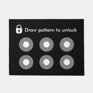 Draw Pattern To Unlock Geeky Funny Cool Modern Doormat