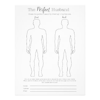 Draw the perfect husband game letterhead template