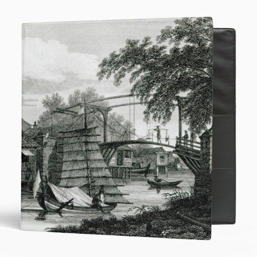 Drawbridge at Malacca, engraved by George Cooke Vinyl Binders