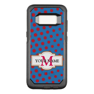 Drawing and repeated pattern of dots OtterBox commuter samsung galaxy s8 case