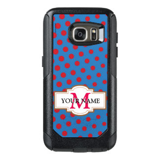 Drawing and repeated pattern of dots OtterBox samsung galaxy s7 case