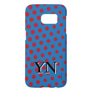 Drawing and repeated pattern of dots samsung galaxy s7 case
