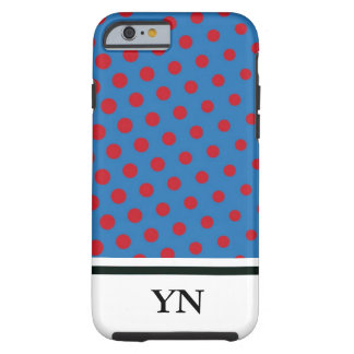 Drawing and repeated pattern of dots tough iPhone 6 case