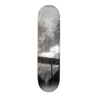 drawing bridge from road custom skate board