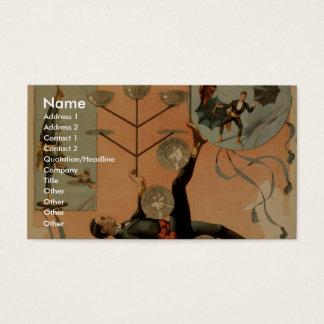 Drawing Cards, 'Eldora', Juggler of the World Business Card