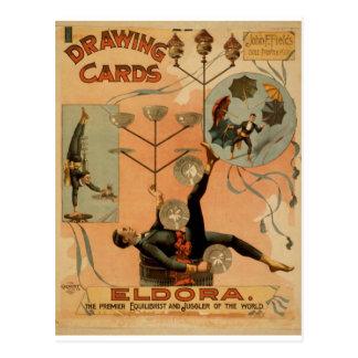 Drawing Cards, 'Eldora', Juggler of the World Postcard