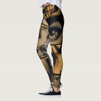 Drawing Collage Hip Hop Leggings