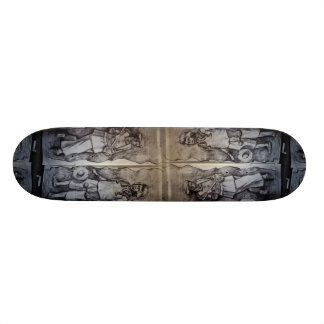 Drawing for Art Price's sculpture in Mangshi, Chin Custom Skateboard