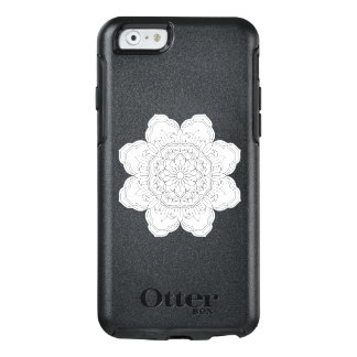Drawing of a floral mandala in ethnic tribal stile OtterBox iPhone 6/6s case