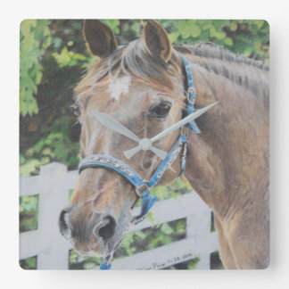 Drawing of a Roan Tennessee Walker Square Wall Clock