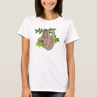 Drawing of a Sloth Hanging Upside Down T-Shirt