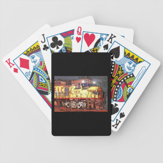Drawing Of A Train Bicycle Playing Cards