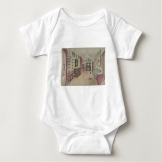 Drawing of an Interior- Cabinet du Salon Baby Bodysuit
