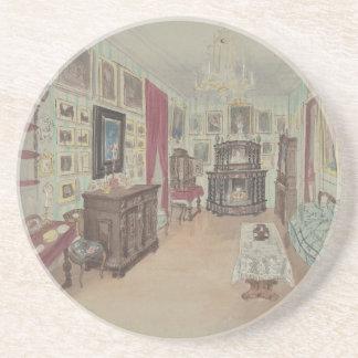 Drawing of an Interior- Cabinet du Salon Coaster
