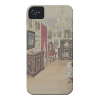 Drawing of an Interior- Cabinet du Salon iPhone 4 Cases