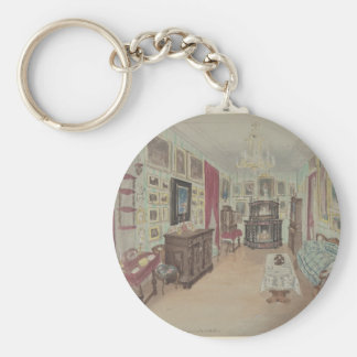Drawing of an Interior- Cabinet du Salon Keychain