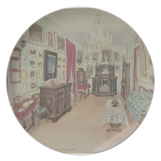Drawing of an Interior- Cabinet du Salon Plate