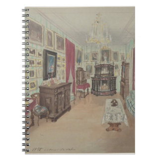 Drawing of an Interior- Cabinet du Salon Spiral Notebook