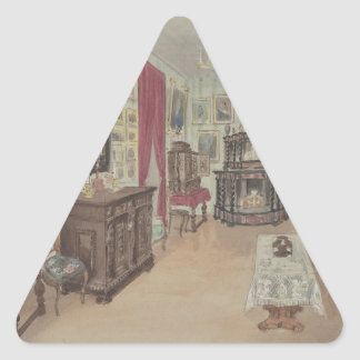 Drawing of an Interior- Cabinet du Salon Triangle Sticker