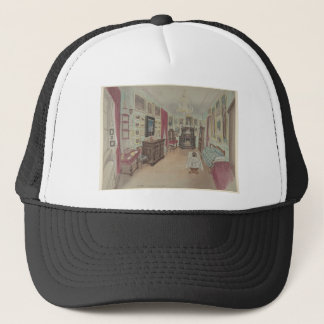 Drawing of an Interior- Cabinet du Salon Trucker Hat