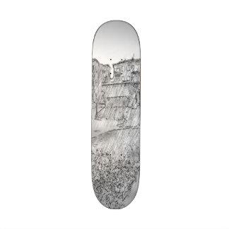Drawing of apartment custom skate board