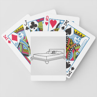 Drawing of bedroom furniture bicycle playing cards