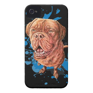 Drawing of Brown Mastiff Dog Art and Paint iPhone 4 Case