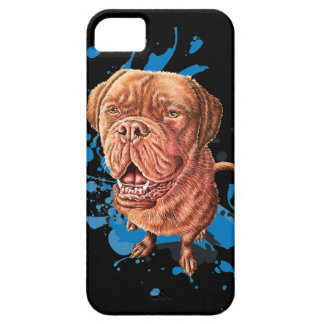 Drawing of Brown Mastiff Dog Art and Paint iPhone 5 Covers