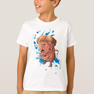 Drawing of Brown Mastiff Dog Art and Paint T-Shirt