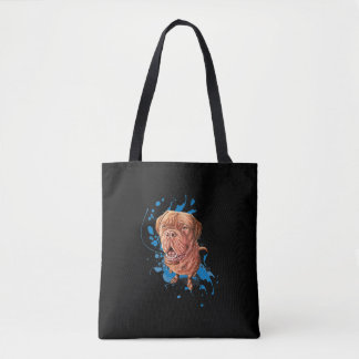 Drawing of Brown Mastiff Dog Art and Paint Tote
