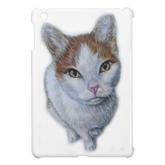 Drawing of Cat White and Orange iPad Mini Cases