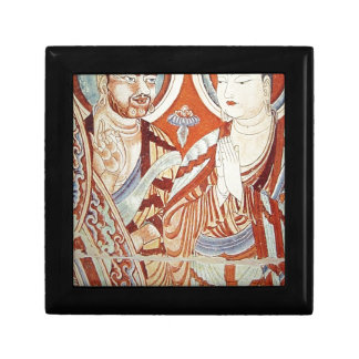 Drawing of Central Asian Buddhist Monks Gift Box