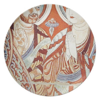 Drawing of Central Asian Buddhist Monks Plate