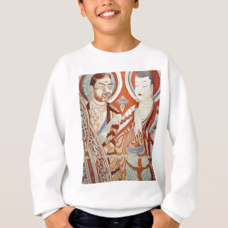 Drawing of Central Asian Buddhist Monks Sweatshirt