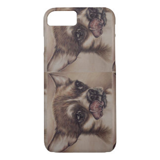 Drawing of Chihuahua Licking Lips on Phone Case