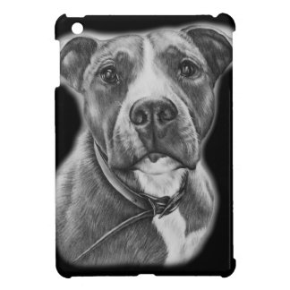 Drawing of Pit Bull Dog Animal Art Case For The iPad Mini