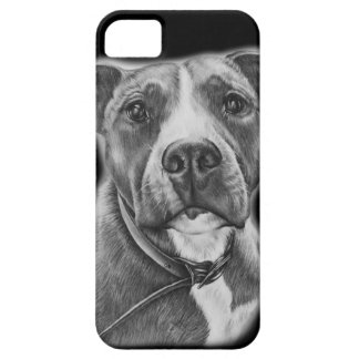 Drawing of Pit Bull Dog Animal Art Case For The iPhone 5