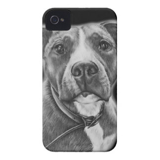 Drawing of Pit Bull Dog Animal Art iPhone 4 Case