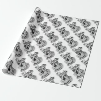 Drawing of Schnauzer Dog Art Wrapping Paper