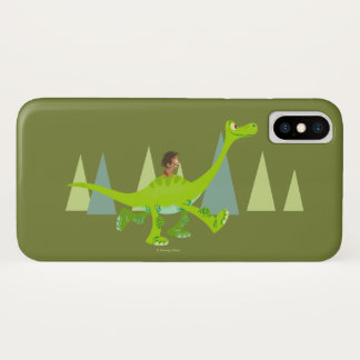 Drawing of Spot Riding Arlo iPhone X Case