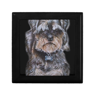 Drawing of Terrier Dog Art Gift Box