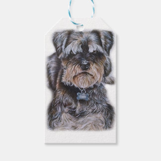 Drawing of Terrier Dog Art Gift Tags