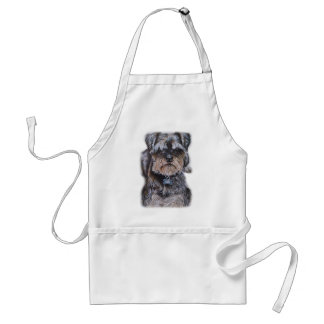 Drawing of Terrier Dog Art Standard Apron