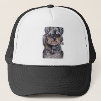 Drawing of Terrier Dog Art Trucker Hat