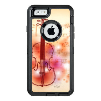Drawing on watercolor background of violin OtterBox iPhone 6/6s case