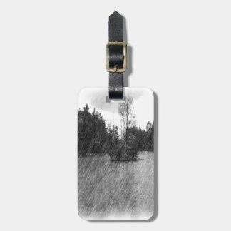 Drawing pond small Island Luggage Tag