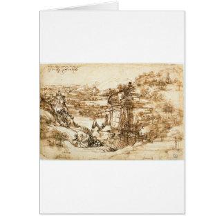 Drawings by Leonardo da Vinci Card