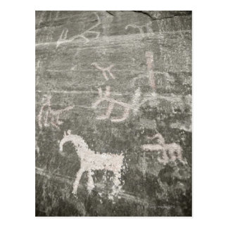 Drawings on wall of cave at Canyon de Chelly Postcard