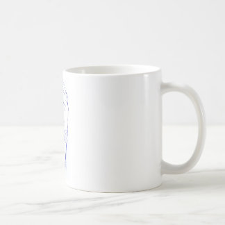 drawn arm the hand with cellular classic white coffee mug