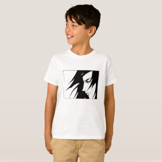Drawn Character With Wind Blown Hair Manga Kids T-Shirt